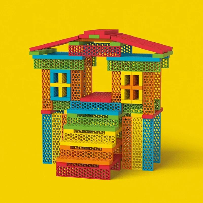 Bioblo Hello Box Rainbow - 100 eco bouwblokken