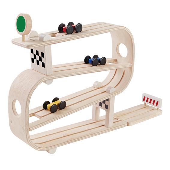 Plan Toys Racebaan - houten speelgoed
