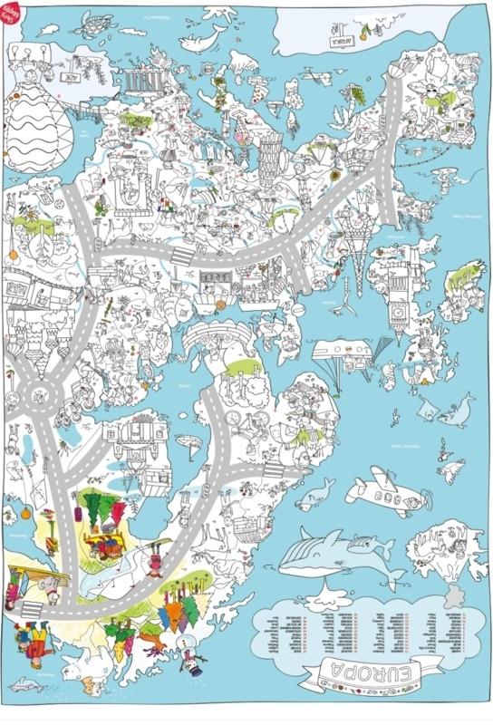 Kleurplaten Europa.Grote Kleurplaat Europa Very Mappy Het Hippe Schaap