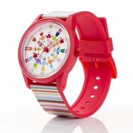 Q&Q horloge RP00J019 SmileSolar Rood