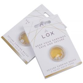 LOX Veiligheidsslotjes voor oorstekers / 2 paar