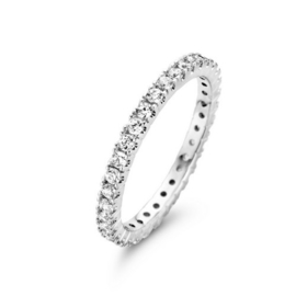 Memoire Dames Ring Volgezet met 0,02 ct Diamanten