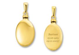 Gouden assieraad met gravure Ovaal