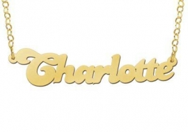 GOUDEN NAAMKETTING NAMES4EVER CHARLOTTE