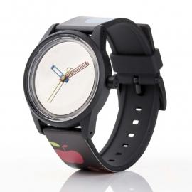 Q&Q horloge RP00J020 SmileSolar Zwart Appeltjes