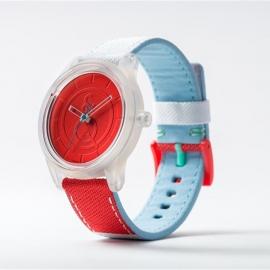 Q&Q Smile Solar horloge ROOD/WIT/BLAUW PU