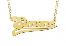 NAAMKETTING VERGULD NAMES4EVER SIMONE