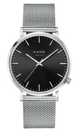 KANE Horloge BLACK CODE SILVER MESH