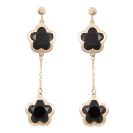 CATALEYA EARRINGS DAISY BLACK