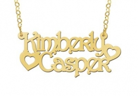 NAAMKETTING VERGULD NAMES4EVER KIMBERLY & CASPER