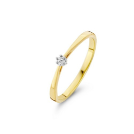 Classic Dames Ring met Diamant