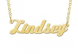GOUDEN NAAMKETTING NAMES4EVER LINDSEY