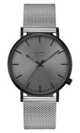 KANE Horloge BLACK OUT SILVER MESH