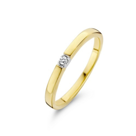 Memoire Dames Ring met 0,02 ct Diamant