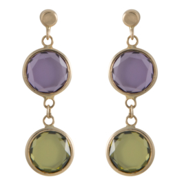 CATALEYA EARRINGS DOUBLE ROUNDS