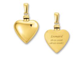 Gouden assieraad met gravure Hartvormig