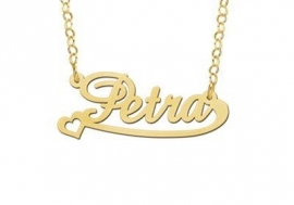 GOUDEN NAAMKETTING NAMES4EVER PETRA