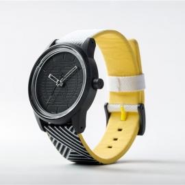Q&Q Smile Solar horloge ZWART/WIT/GEEL DESIGN PU