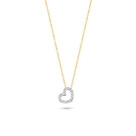Blush Collier 3072BZI - Wit en Geel Goud met zirkonia