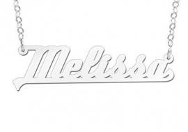 ZILVEREN NAAMKETTING NAMES4EVER MELISSA