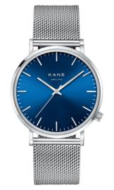 KANE Horloge BLUE ARCTIC SILVER MESH