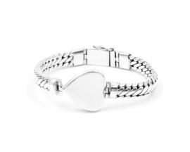 Van Mispelaar zilveren armband LOMBOK HEART