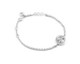 Van Mispelaar zilveren armband NILA PEACE