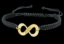 GOUDEN INFINITY NAMES4EVER ARMBAND JUSTINE