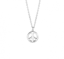 ZILVEREN COLLIER PEACE