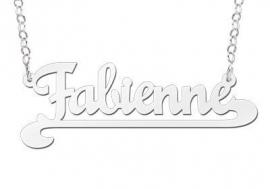 ZILVEREN NAAMKETTING NAMES4EVER FABIENNE