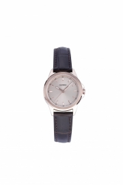 Olympic Dames horloge classic roze met leren band