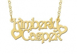 GOUDEN NAAMKETTING NAMES4EVER KIMBERLY & CASPER