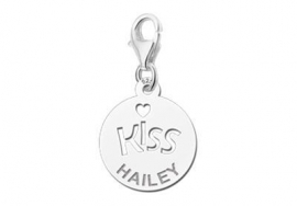 ZILVEREN CHARM NAMES4EVER KISS