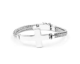 Van Mispelaar zilveren armband HONGKONG CROSS