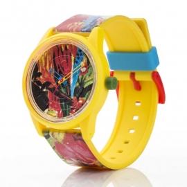 Q&Q horloge RP00J025 SmileSolar Geel