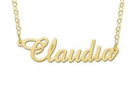 GOUDEN NAAMKETTING NAMES4EVER CLAUDIA