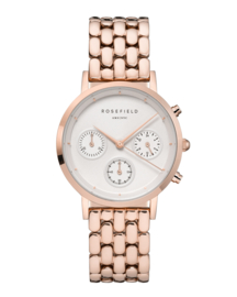 ROSEFIELD THE GABBY WHITE ROSE GOLD TONE