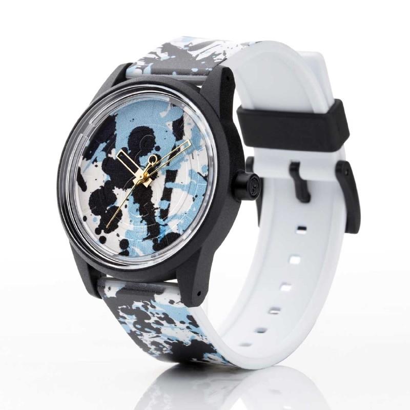 Q&Q horloge RP00J022 SmileSolar Wit en Zwart