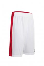 Basketball short Larry Double red/white (2 kanten draagbaar)