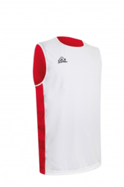Basketball singlet Larry Double red/white (2 kanten draagbaar)
