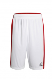 Basketball short Larry Double red/white (2 kanten draagbaar)