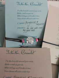 Intention Bracelet Bergkristal en Turquoise