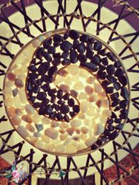 Spiraal Rotan lamp Yin Yang
