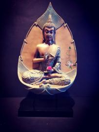 Thaise Boeddha Koper & Groen - Lotus Verlichting