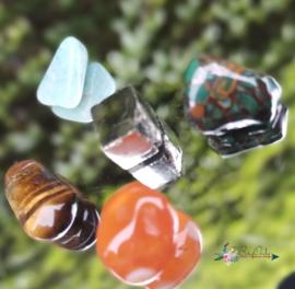 You Rock | Inner peace |amazoniet, carneool, tijgeroog, pyriet, moonshine green | S