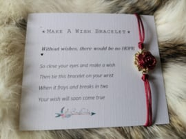 Without a Wish, there would be no hope | Wish bracelet
