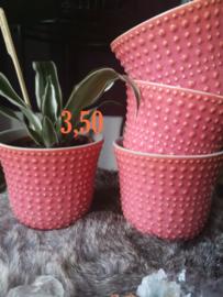 Bijzondere roze plantenpot 13,5 cm