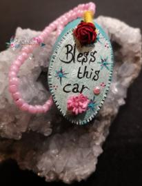 Achteruitkijkspiegel hanger Bless This Car