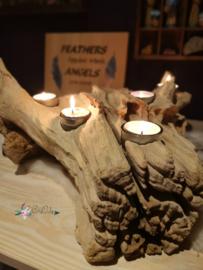 Teak Waxinelichthouder 5 waxinelichten