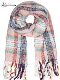 Zachte sjaal Winters Pink